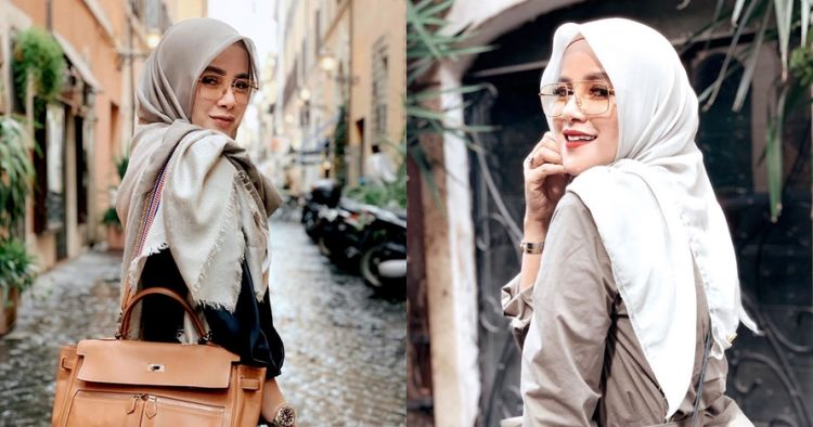 Olla Ramlan pemotretan, gaya hijab disebut mirip pohon pisang