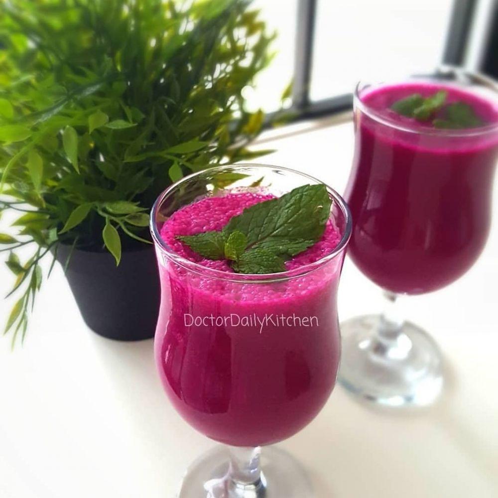 12 Cara membuat jus buah naga merah, enak dan segar instagram