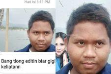 9 Orang jadi korban minta editin foto ini hasilnya kocak