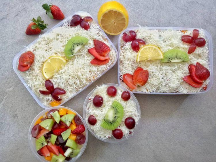 10 Cara membuat saus salad buah, creamy, enak, dan praktis