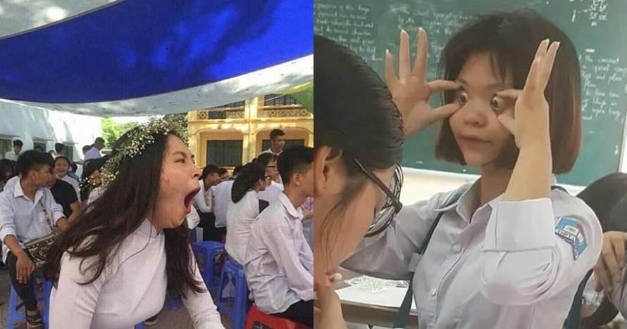 10 Aksi siswi di sekolah ini bikin tepuk jidat
