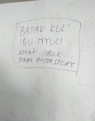 tulisan tembok anak kebanyakan gaya Istimewa
