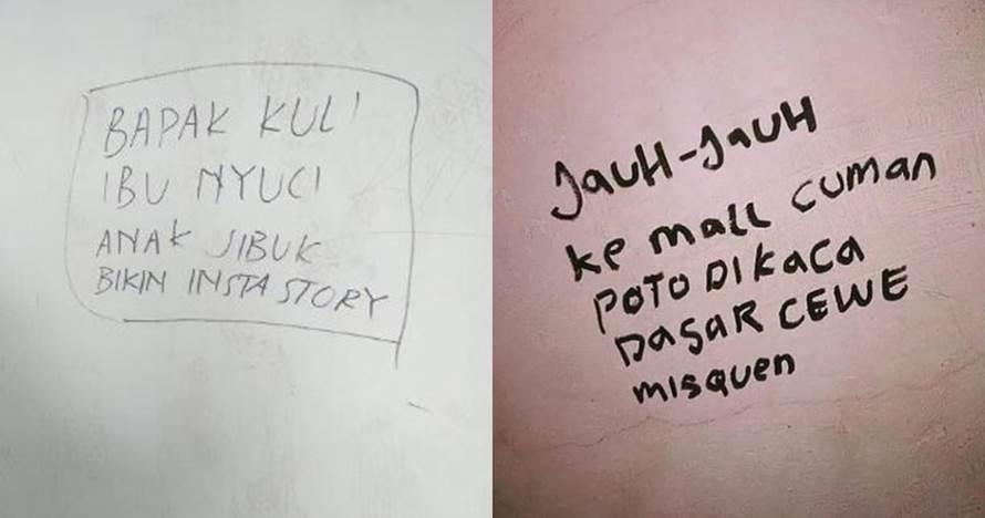 9 Tulisan di tembok nyindir anak kebanyakan gaya, ngena banget