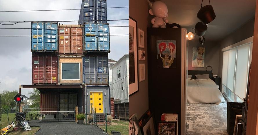 10 Potret isi rumah yang dibangun dari 11 kontainer, artsy abis