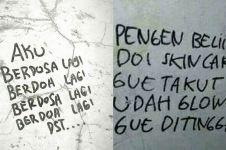 9 Tulisan di tembok bernada pesimis ini bikin tepuk jidat