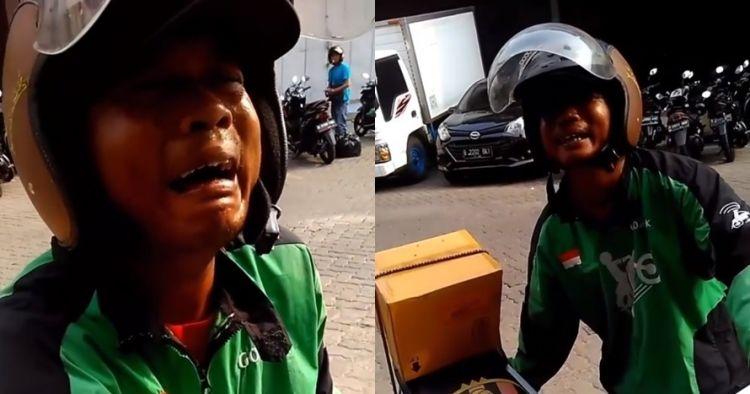 Viral driver ojek online nangis sesenggukan karena orderan di-cancel