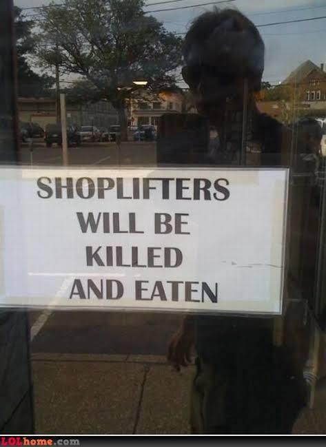 peringatan buat pencuri di toko © 2019 1cak.com