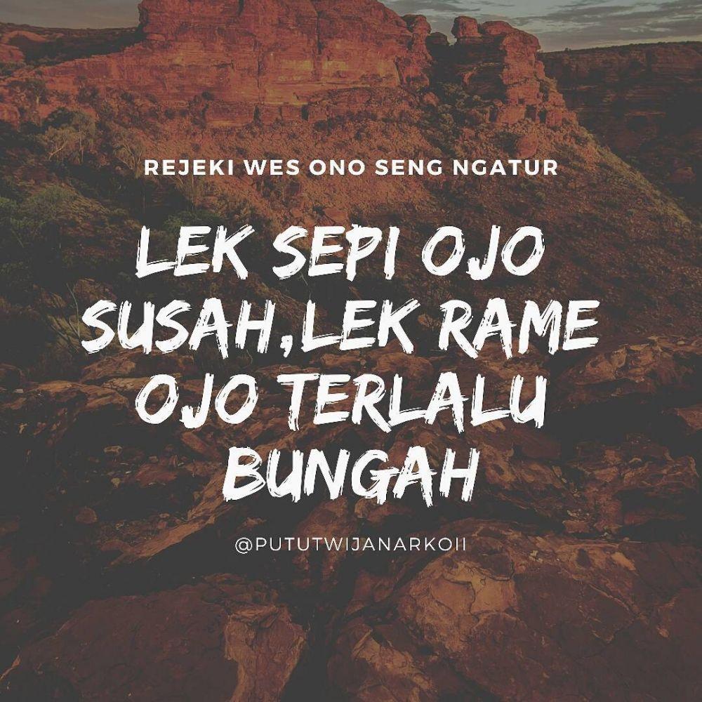 40 Kata-kata motivasi bahasa Jawa singkat dan penuh arti instagram