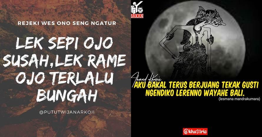 40 Kata-kata motivasi bahasa Jawa singkat dan penuh arti