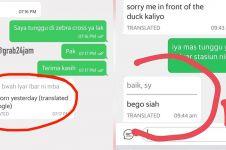 10 Chat terjemahan driver ojek online dan pelanggan ini absurd