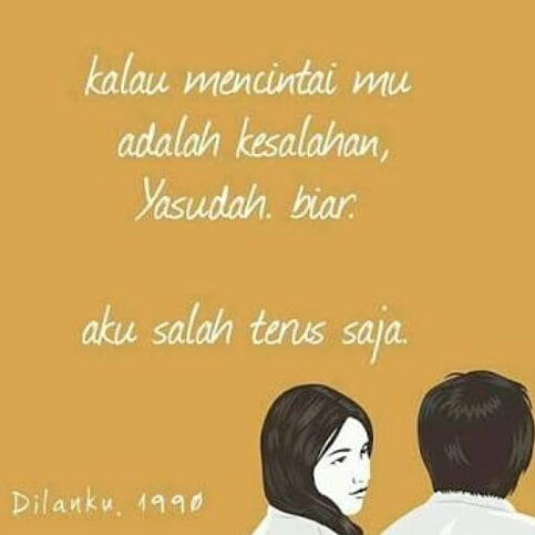 40 Kata-kata gombal Dilan romantis dan bikin baper Instagram/@katakatadilan2  @iqbaalvanesha._