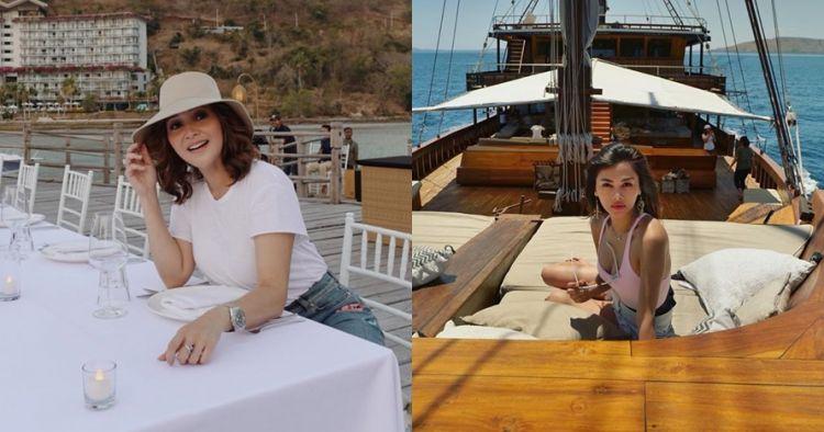 Penampakan kapal sewaan 5 seleb di Labuan Bajo, bikin melongo
