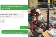 Kisah haru driver ojek online pesan minuman untuk pengemis