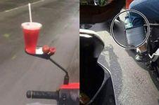 10 Kelakuan absurd orang saat naik motor ini bikin tepuk jidat