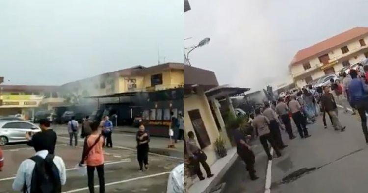 Detik-detik mencekam bom bunuh diri Mapolrestabes Medan