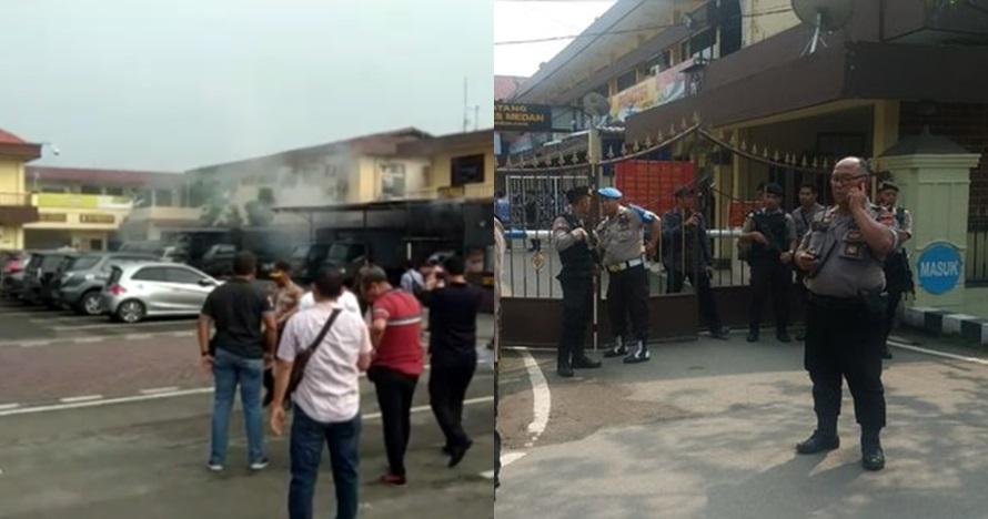 Wajah diduga pelaku bom bunuh diri Medan sebelum meledak
