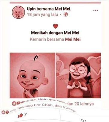 gabungan dua foto facebook Instagram