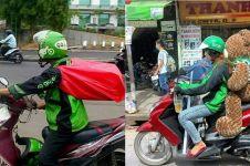 10 Cara nyeleneh driver ojek online jagain barang bawaan, kocak