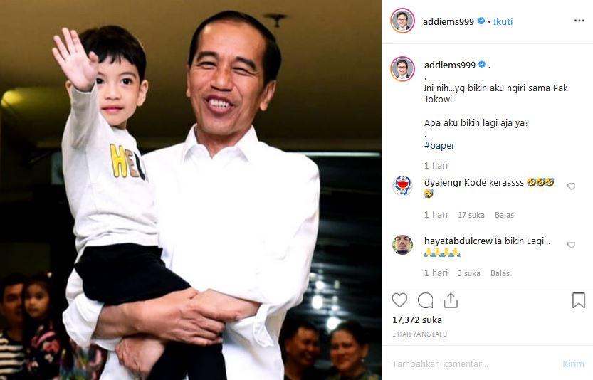 Unggah foto Jokowi gendong Jan Eths Istimewa