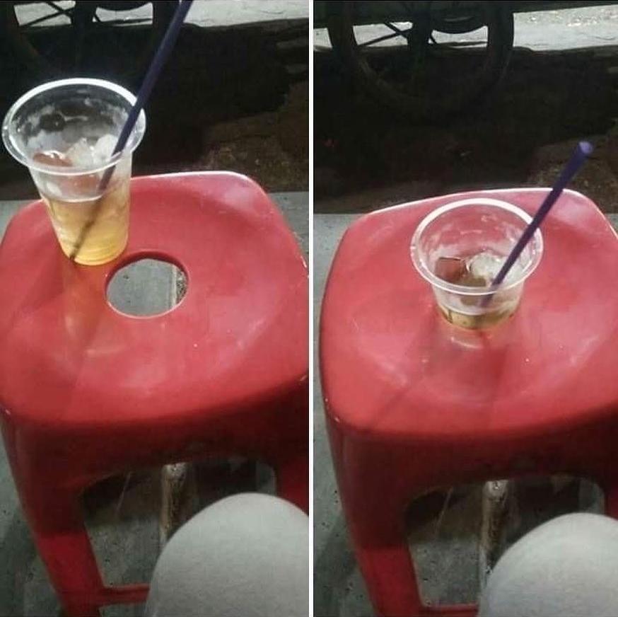 cara nyeleneh orang menikmati minuman © 2019 1cak.com