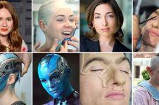 11 Potret seleb Hollywood pakai makeup spesial efek, manglingi