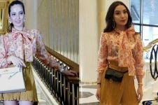 Momen kikuk Nia Ramadhani & Manohara pakai baju sama persis