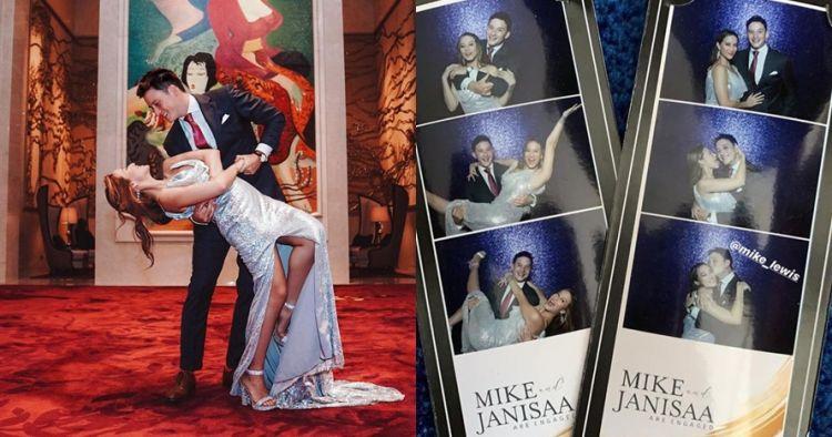 7 Momen pertunangan Mike Lewis & Janisaa, dansa dan ciuman mesra