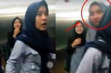 Heboh penampakan wanita berhijab di lift, hantu bukan ya?