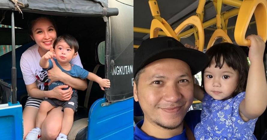 Momen 6 anak seleb naik transportasi umum, ekspresinya gemesin