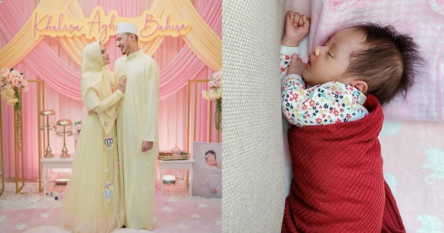 8 Pemotretan newborn baby Khalisa, ada yang pakai mukena
