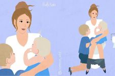 10 Ilustrasi repotnya asuh anak, suarakan jeritan hati ibu