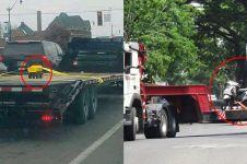 10 Potret benda dibawa pakai truk ini absurd abis