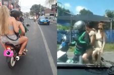 5 Momen driver ojek online bonceng dua bule cantik, cihuy