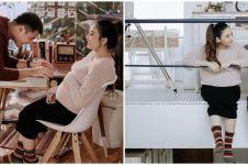 8 Potret maternity Adzana Bing Slamet, simpel & elegan