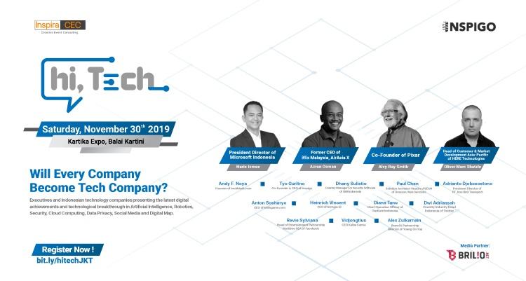 Hi, Tech Conference digelar hari ini, banyak pembicara keren nih