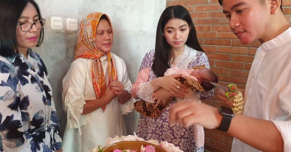 Gibran unggah foto akikah, wajah polos Selvi Ananda curi perhatian instagram
