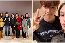 7 Momen Luna Maya dan Vanesha Prescilla bertemu Kang Daniel