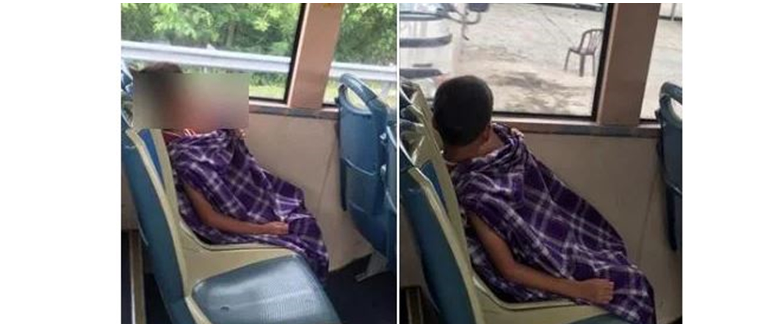 Potret anak kecil naik bis usai disunat ini bikin iba
