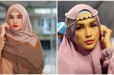 9 Penampilan Ussy Sulistiawaty kenakan hijab, makin memesona