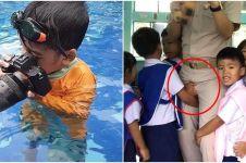 10 Potret tingkah polos anak kecil ini bikin gemes gimana gitu