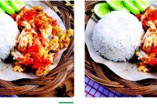 Penampakan ayam geprek di tampilan menu ojek online ini kocak