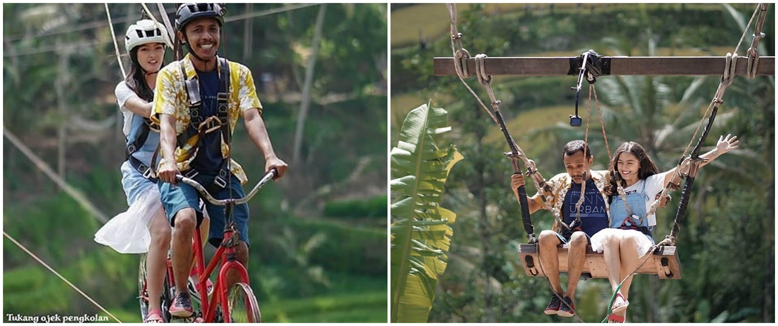 8 Potret bulan madu Mas Pur dan Rinjani TOP di Bali, so sweet