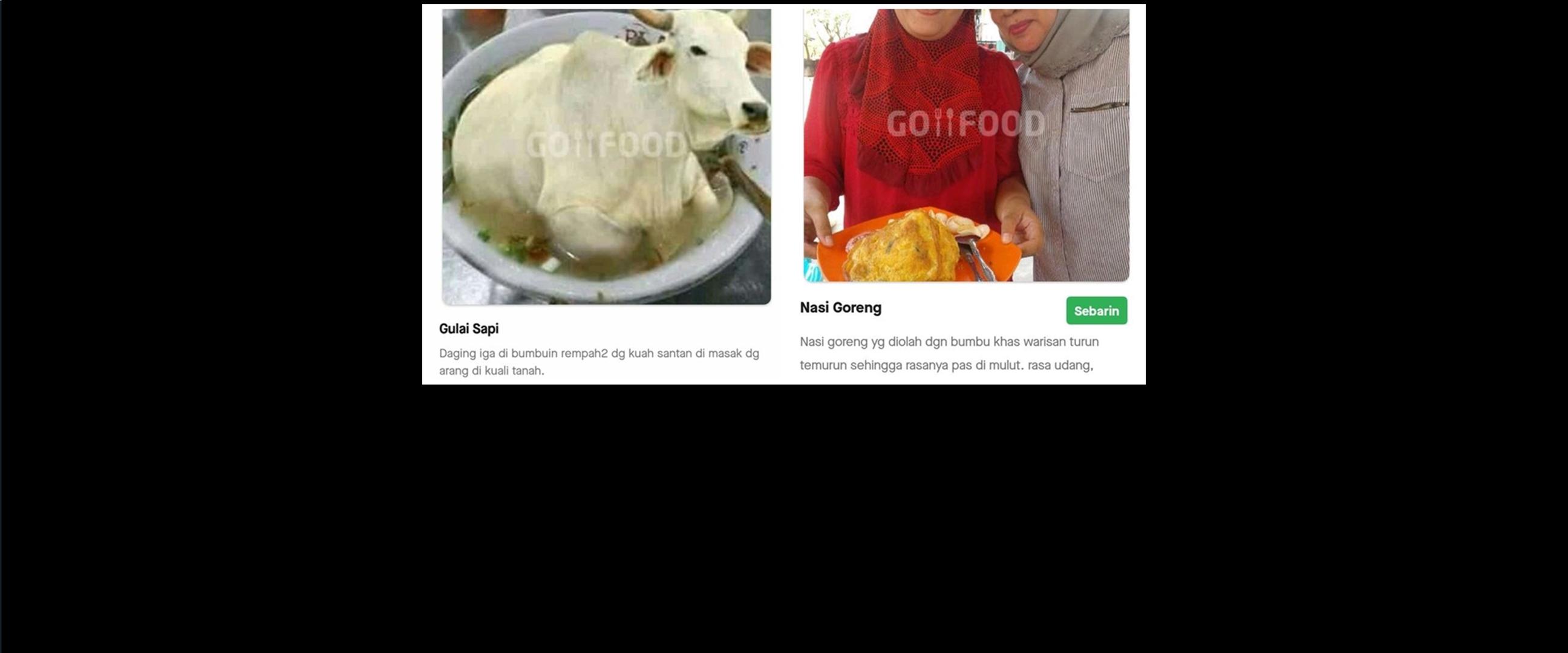 7 Foto menu makanan di aplikasi ojek online ini nyeleneh