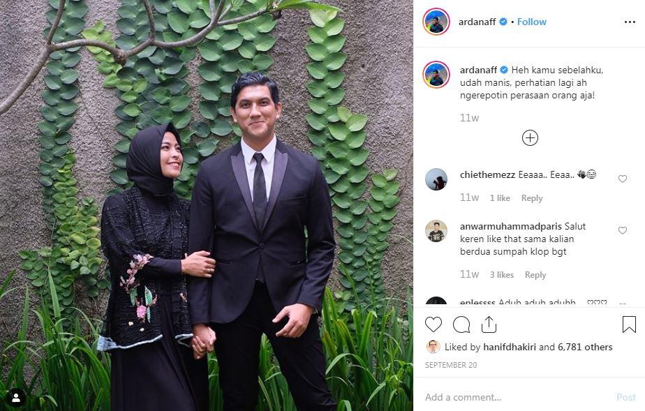 7 Gombalan Arda 'Naff' dan Tantri 'Kotak', relationship goals nih Instagram @ardanaff