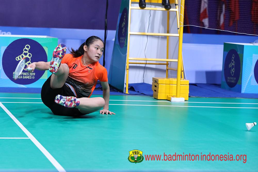 perjuangan Ruselli Hartawan di SEA Games 2019 © 2019 badmintonindonesia.org