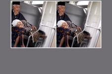 Viral video nenek tidur di pangkuan kakek, warganet baper