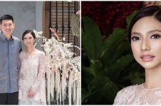 Potret cantik Nadia Saphira berbusana adat Palembang saat nikah