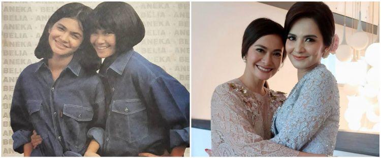 6 Potret kebersamaan Cut Tari & Ersa Mayori, akrab sejak remaja