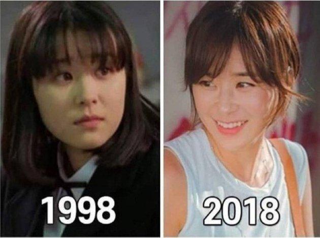 transformasi aktris korea awet muda Istimewa
