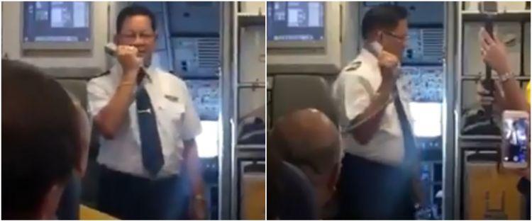 Detik-detik perpisahan pilot di penerbangan terakhir, penuh haru
